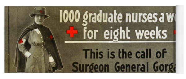 Red Cross Poster, C1914 Yoga Mat