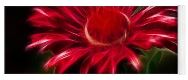 Red Daisy Yoga Mat