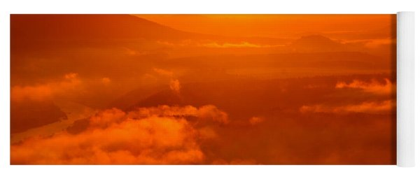 Red Dawn On The Lilienstein Yoga Mat