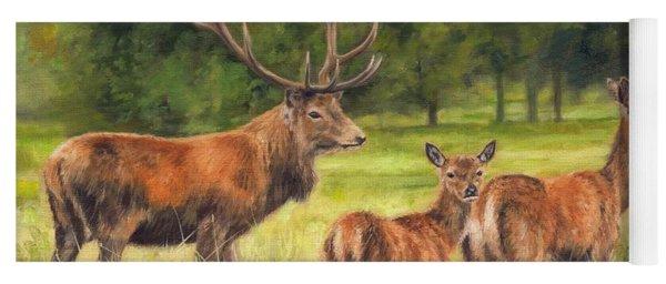 Red Deer Family Yoga Mat