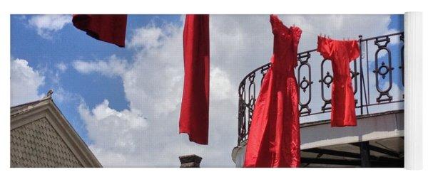 Red Dress Lineup  Yoga Mat