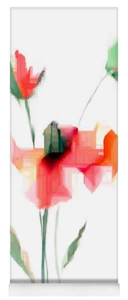 Red Flowers Yoga Mat