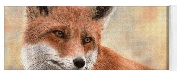 Red Fox Painting Yoga Mat
