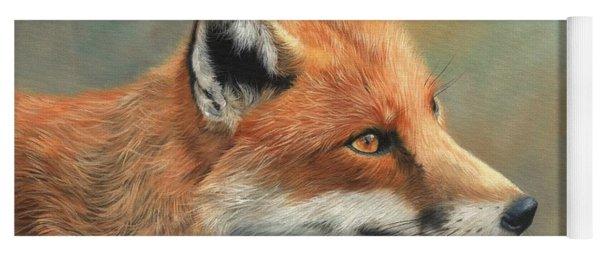 Red Fox Portrait Yoga Mat