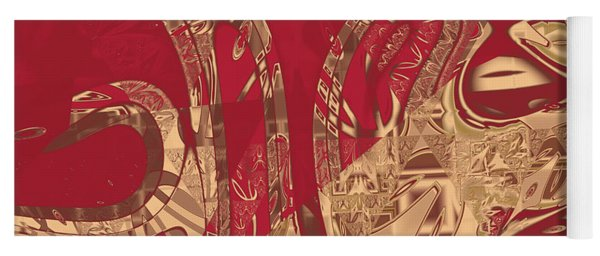 Red Geranium Abstract Yoga Mat