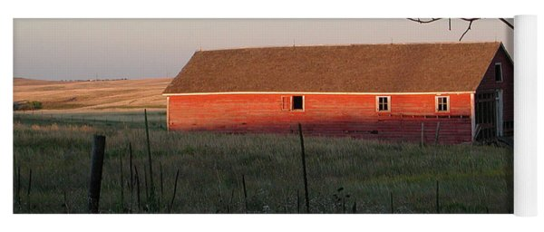 Red Granary Barn Yoga Mat