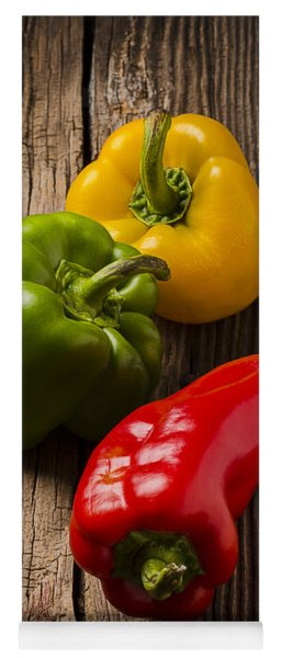Red Green Yellow Peppers Yoga Mat