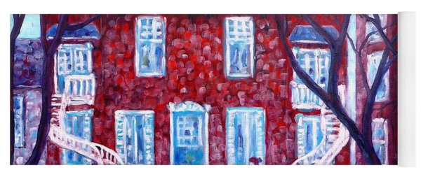 Red House In Montreal - Cityscape Yoga Mat