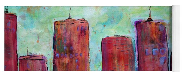 Red In The City Yoga Mat