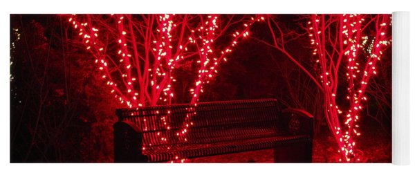 Red Lights And Bench Yoga Mat