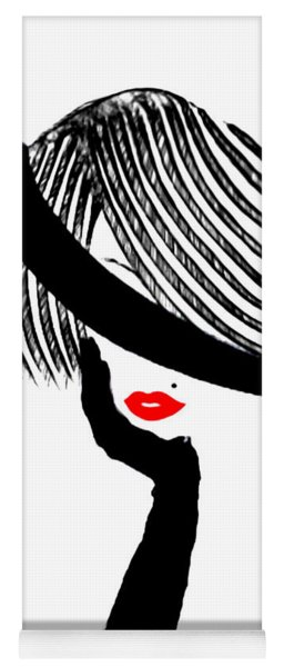 Red Lips Yoga Mat
