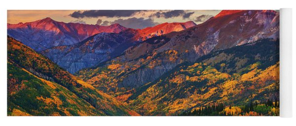 Red Mountain Pass Sunset Yoga Mat