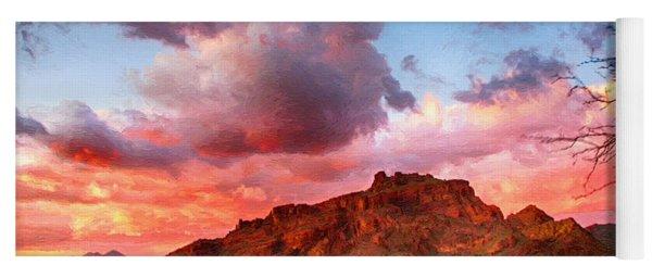 Red Mountain Sunset Yoga Mat
