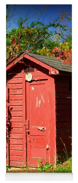 Red Outhouse Yoga Mat