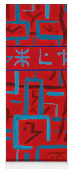Red Painting Yoga Mat