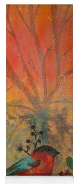 Red Peace Bird Yoga Mat