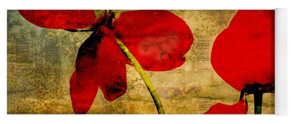 Red Petals Yoga Mat