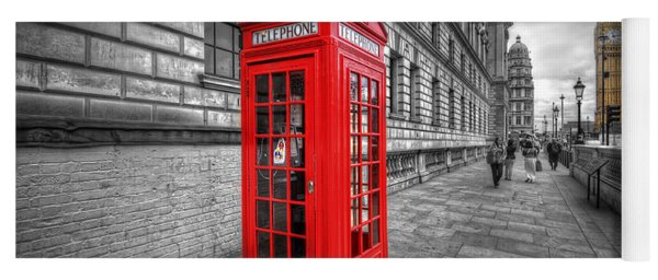 Red Phone Box And Big Ben Yoga Mat