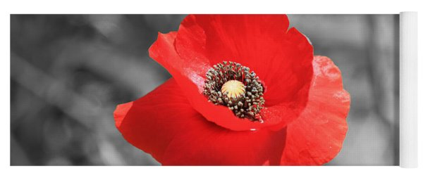 Red Poppy Yoga Mat