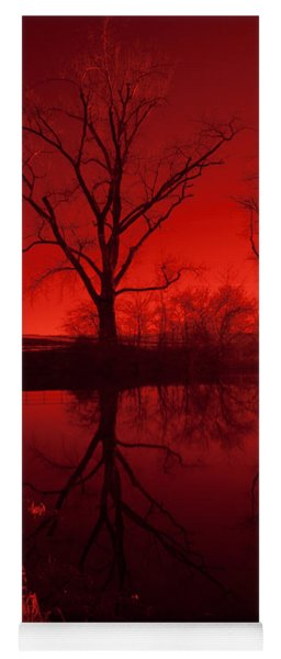 Red Reflections Yoga Mat