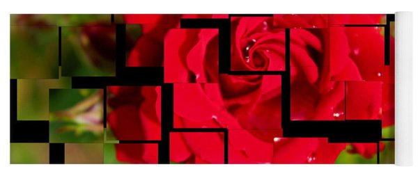 Red Rose Puzzle Yoga Mat