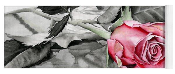 Red Rosebud Yoga Mat