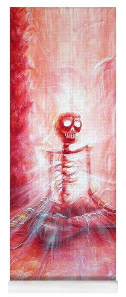 Red Skeleton Meditation Yoga Mat