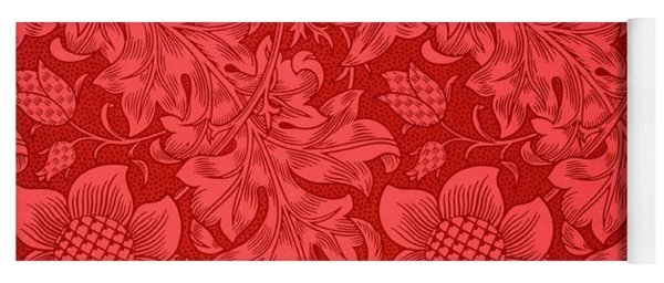 Red Sunflower Wallpaper Design, 1879 Yoga Mat