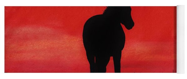 Red Sunset Horse Yoga Mat