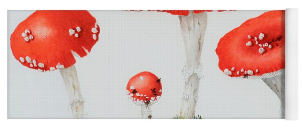 Red Toadstools Fly Agaric  Yoga Mat