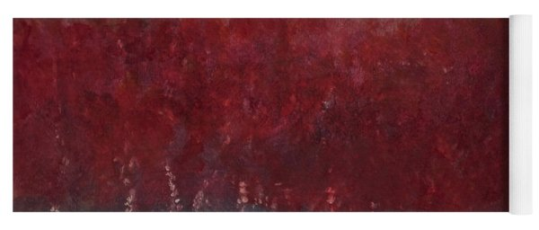 Red Trees Watercolor Yoga Mat