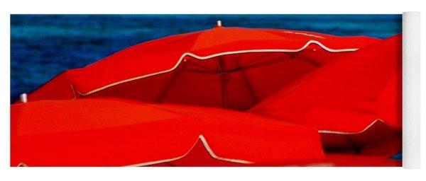 Red Umbrellas  Yoga Mat