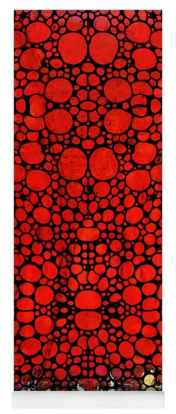 Red Valley - Abstract Landscape Stone Rock'd Art Yoga Mat