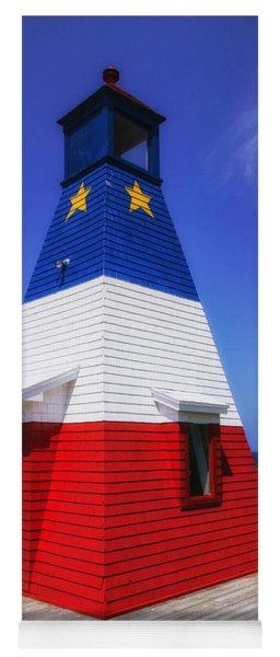 Red White And Blue Lighthouse Yoga Mat
