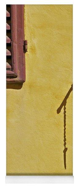 Red Window Shutter Of Tuscany Yoga Mat