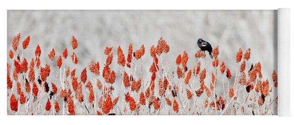 Red-winged Blackbird Yoga Mat