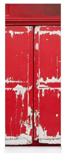 Red Wooden Door Yoga Mat