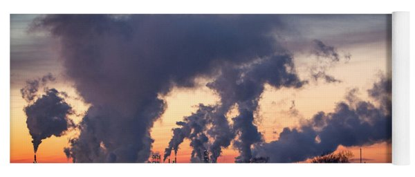 Yoga Mat featuring the photograph Flint Hills Resources Pine Bend Refinery by Patti Deters