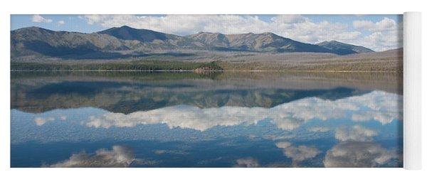 Reflections At Glacier National Park Yoga Mat
