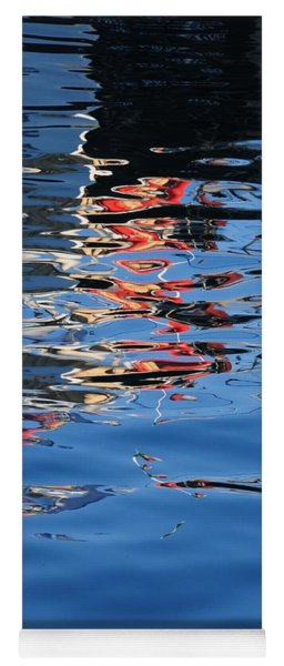 Reflections In Red Yoga Mat