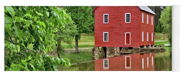 Reflections Of A Retired Grist Mill Yoga Mat