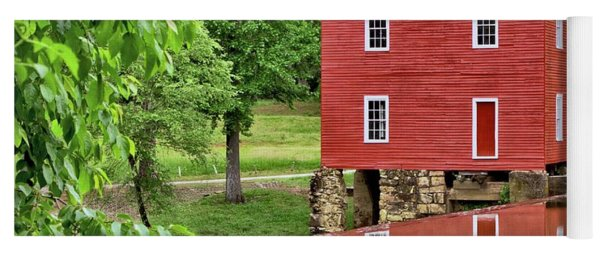 Reflections Of A Retired Grist Mill - Square Yoga Mat