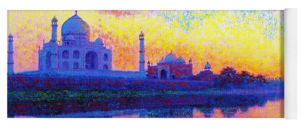 Taj Mahal, Reflections Of India Yoga Mat