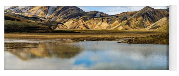 Reflections On Landmannalaugar Yoga Mat