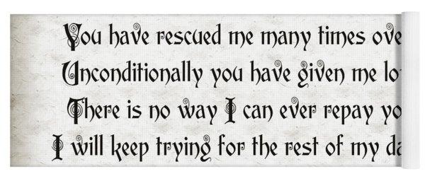 Rescue Love Yoga Mat