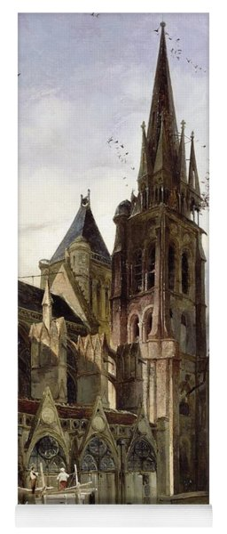 Restoring The Abbey Church Of St. Denis In 1833 Oil On Canvas Yoga Mat