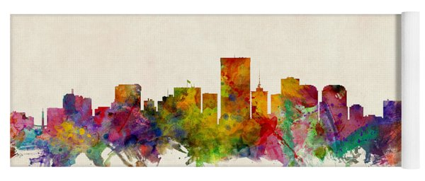 Richmond Virginia Skyline Yoga Mat