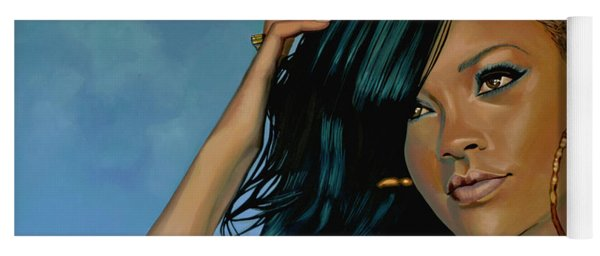Rihanna Painting Yoga Mat