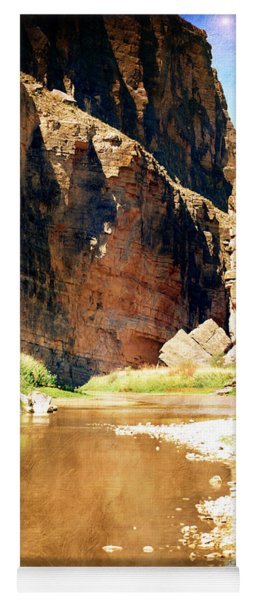 Rio Grande At Santa Elena Canyon Yoga Mat