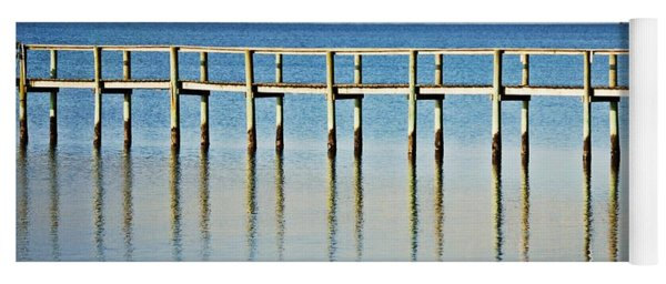 Yoga Mat featuring the photograph Rippled Reflections by Judy Hall-Folde